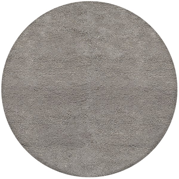 Metropolitan Contemporary Gray Wool Area Rug (L 96 X W 96) MET8686-8RD