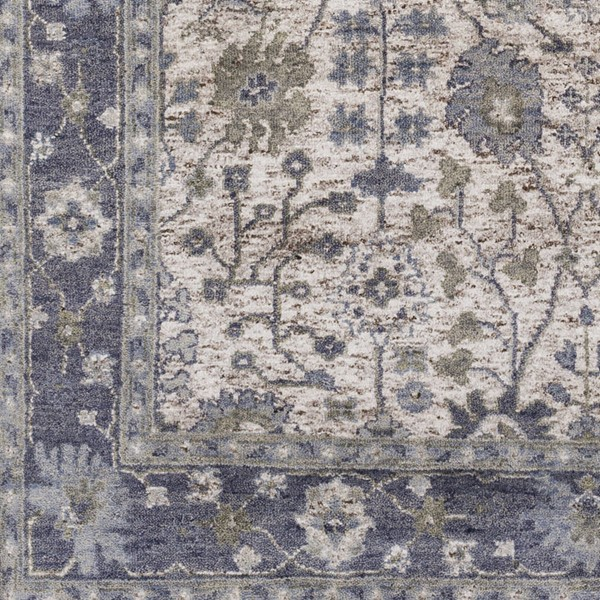 Surya Maeva Navy Sea Foam Dark Brown Wool Viscose Sample Area Rug 18 x 18 MEV2003-1616