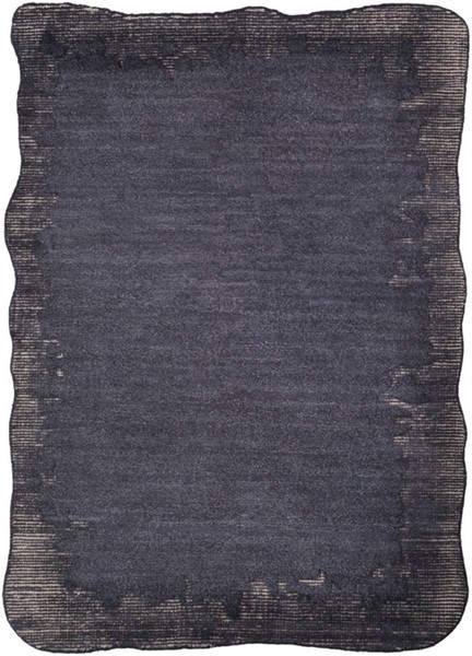 Surya Mezcla Black Light Gray Wool Area Rug 120 x 96 MEZ1000-810