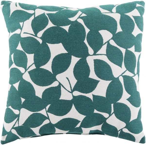 Magnolia Contemporary Teal Magenta Light Gray Acrylic Throw Pillows 13672-VAR1