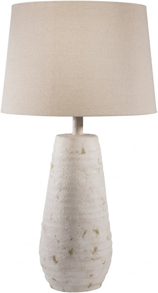 Maggie Antiqued White Resin Linen Table Lamp - 15x26 MGLP-001