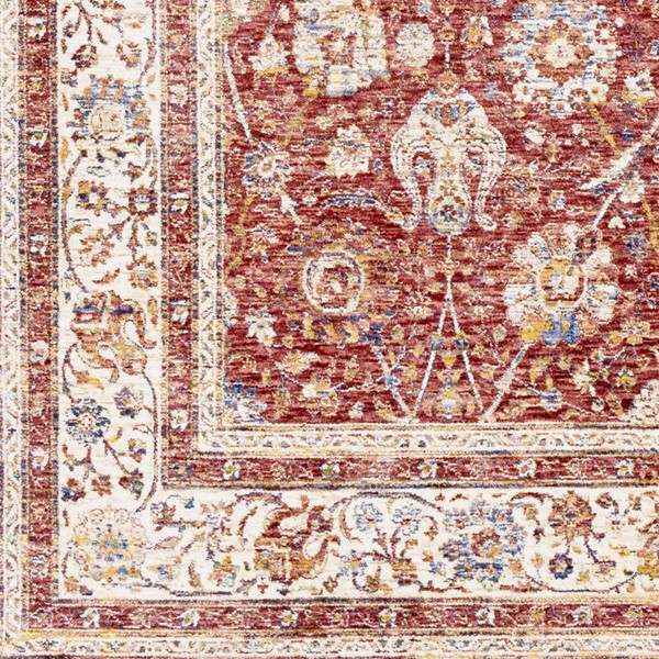 Surya Mahal Rose Burgundy Cream Polyester Mahal Sample Area Rug 18 x 18 MHL2300-1616