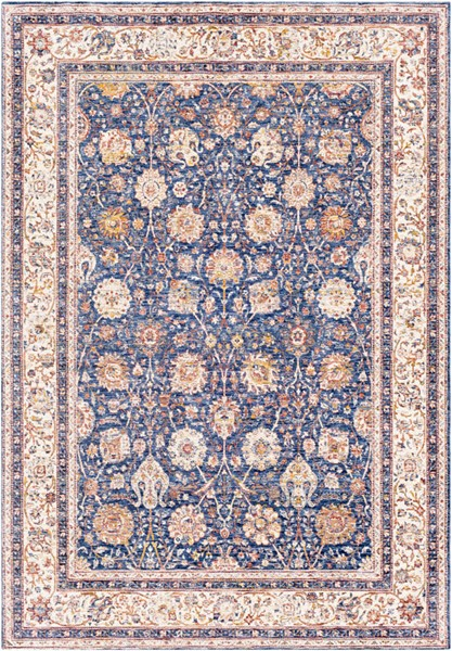 Surya Mahal Denim Navy Wheat Polyester Mahal Area Rug 162 x 114 MHL2302-96136