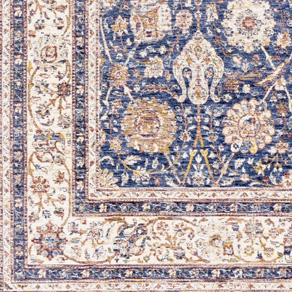 Surya Mahal Denim Navy Wheat Polyester Mahal Sample Area Rug 18 x 18 MHL2302-1616