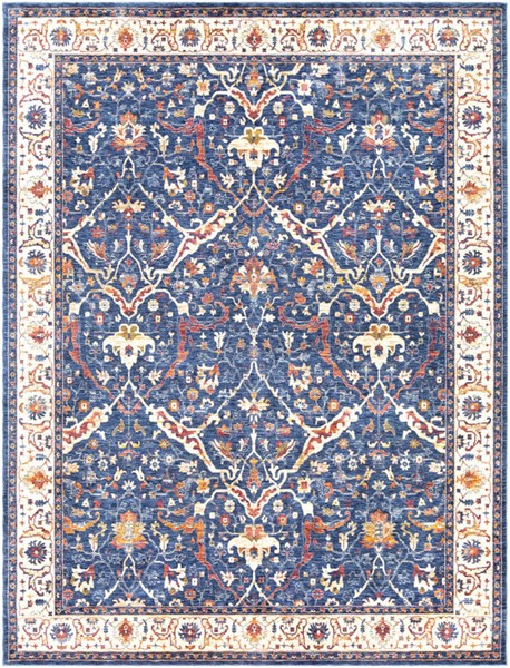 Surya Mahal Navy Denim Rose Area Rug 126 x 94 MHL2304-710106