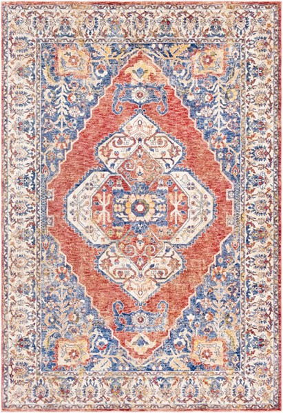 Surya Mahal Denim Navy Rose Polyester Area Rug 36 x 24 MHL2308-23