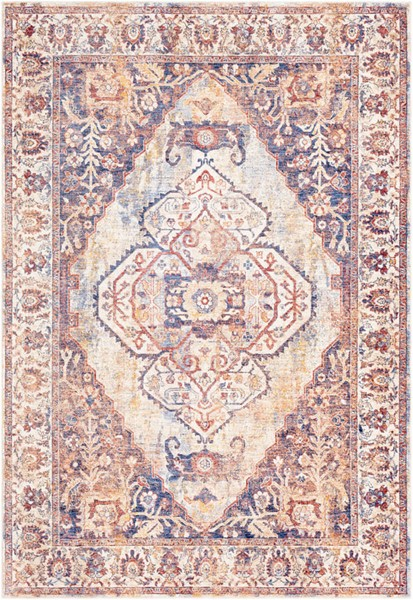 Surya Mahal Denim Navy Cream Polyester Area Rug 162 x 114 MHL2309-96136