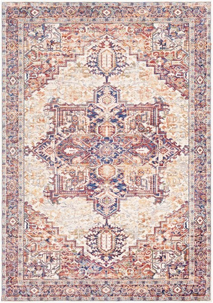 Surya Mahal Navy Denim Wheat Polyester Area Rug 60 x 36 MHL2311-35