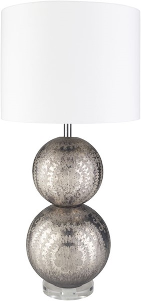 Surya Millicent White Glass Table Lamp - 15x30 MIC-001