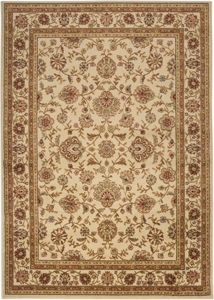 Midtown Beige Forest Charcoal Olefin Area Rug- 63 x 87 MID1012-5373