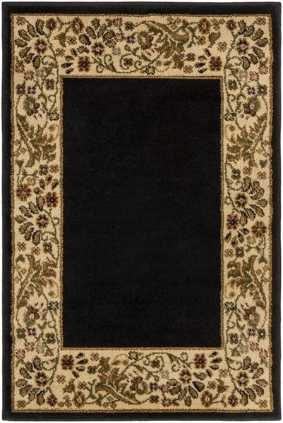 Midtown Contemporary Black Beige Ivory Olefin Rugs (L 39 X W 26 X H 4) MID1062-2233