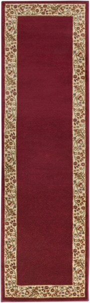 Midtown Traditional Gold Cherry Olive Olefin Runner (L 96 X W 26) MID4740-2276