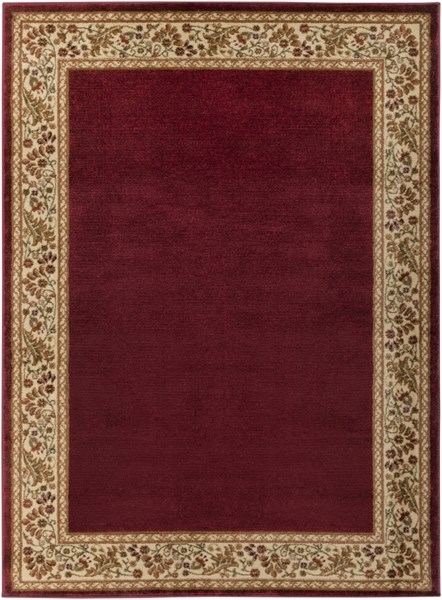 Midtown Traditional Gold Cherry Olive Olefin Area Rug (L 87 X W 63) MID4740-5373
