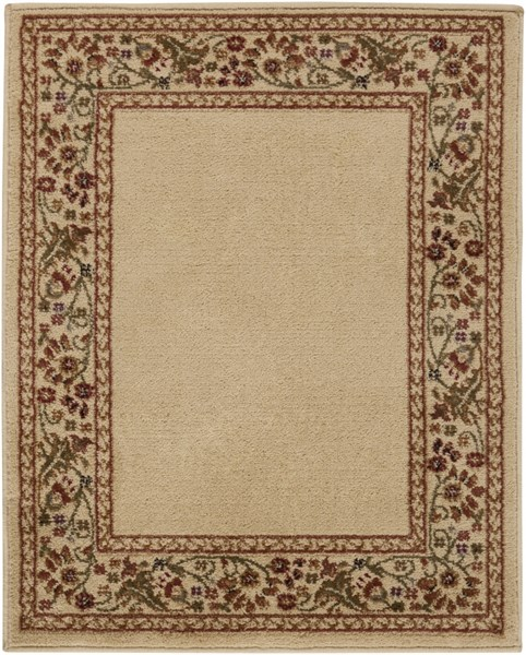 Midtown Traditional Beige Rust Olive Olefin Area Rug (L 39 X W 26) MID4742-2233