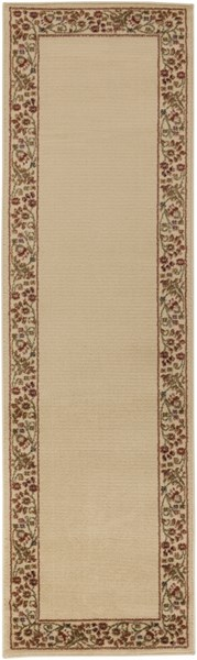 Midtown Traditional Beige Rust Olive Olefin Runner (L 96 X W 26) MID4742-2276