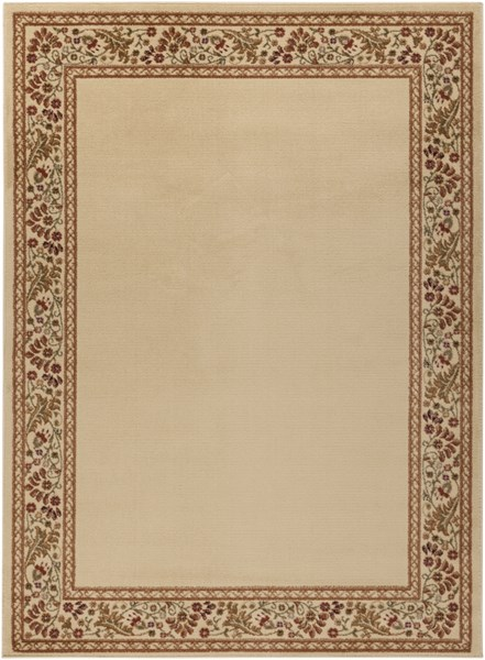 Midtown Traditional Beige Rust Olive Olefin Area Rug (L 87 X W 63) MID4742-5373