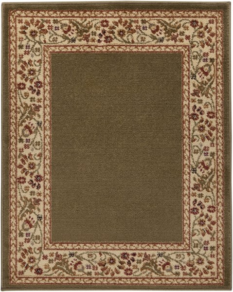 Midtown Traditional Gold Cherry Olive Olefin Rugs 843-VAR2