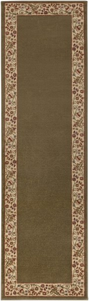 Midtown Traditional Gold Cherry Olive Olefin Runner (L 90 X W 26) MID4745-2276