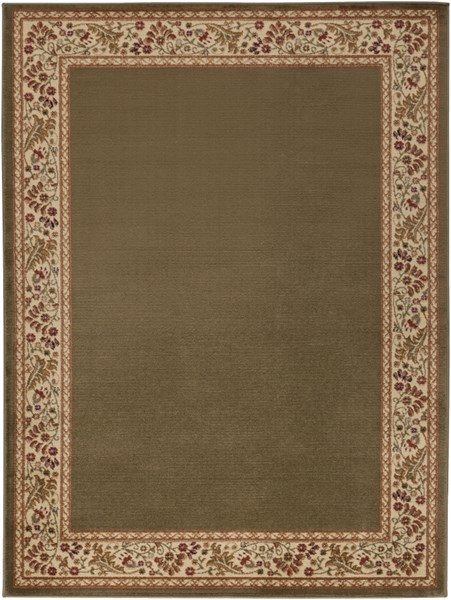 Midtown Gold Cherry Olive Olefin Area Rug (L 87 X W 63) MID4745-5373