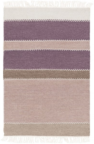 Miguel Eggplant Charcoal Gray Wool Cotton Area Rug (L 36 X W 24) MIG5002-23