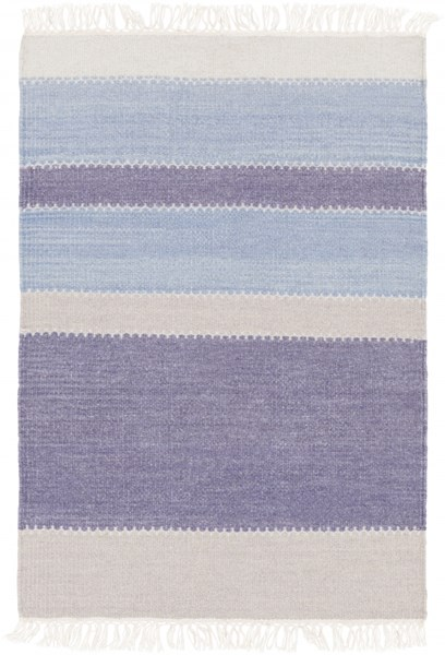 Miguel Modern Navy Slate Gray Wool Cotton Area Rug (L 36 X W 24) MIG5004-23