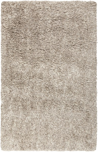Milan Beige Ivory Gray Wool Polyester Area Rug (L 96 X W 60) MIL5001-58