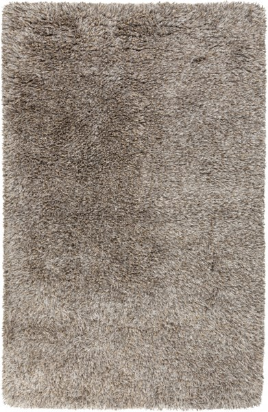 Milan Charcoal Olive Beige Wool Polyester Area Rug (L 96 X W 60) MIL5002-58