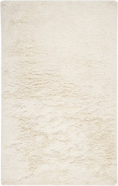 Milan Contemporary Ivory Wool Polyester Area Rug (L 96 X W 60) MIL5003-58