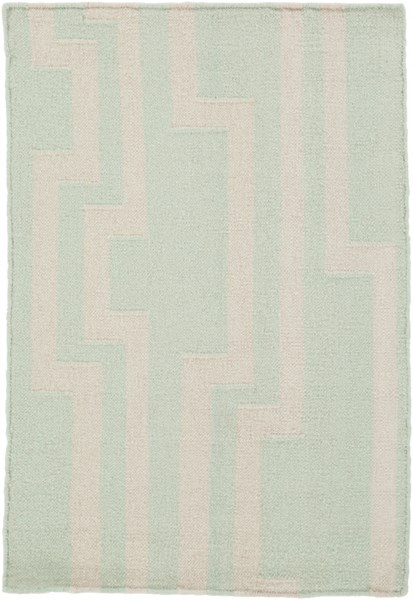 Market Place Contemporary Mint Ivory Wool Rugs 731-VAR1