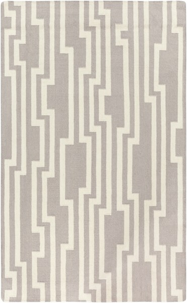 Market Place Contemporary Light Gray Ivory Wool Area Rug (L 96 X W 60) MKP1012-58