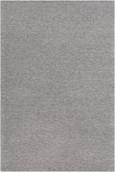 Surya Marlowe Medium Gray Black Wool Viscose Sample Area Rug 18 x 18 MLE1000-1616