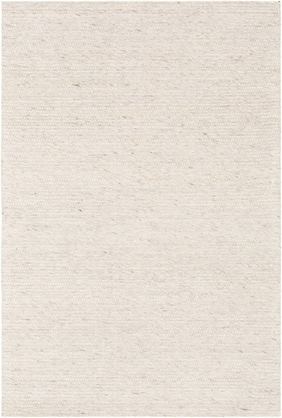 Surya Marlowe Cream White Dark Brown Wool Viscose Area Rug 120 x 96 MLE1002-810