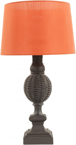 Miller Contemporary Black Coral Resin Fabric Table Lamp MLL716-TBL