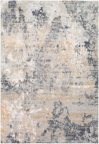 Surya Milano Light Gray Charcoal Tan Viscose Area Rug 87 x 63 MLN2303-5373