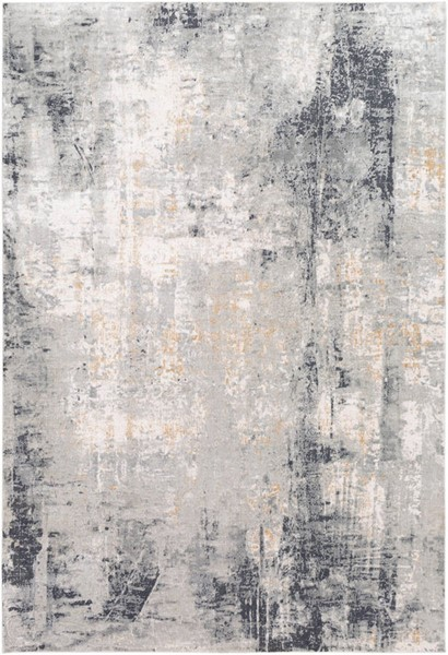 Surya Milano Light Gray White Charcoal Viscose Area Rug 36 x 24 MLN2304-23