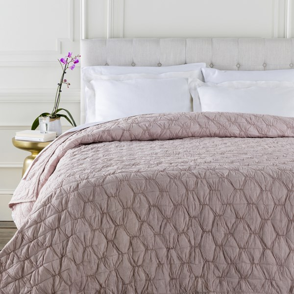 Melissa Contemporary Blush Cotton Full Or Queen Quilt MLS1000-FQ