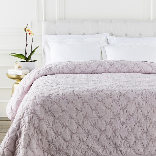 Melissa Contemporary Lilac Cotton Full Or Queen Quilt MLS1002-FQ