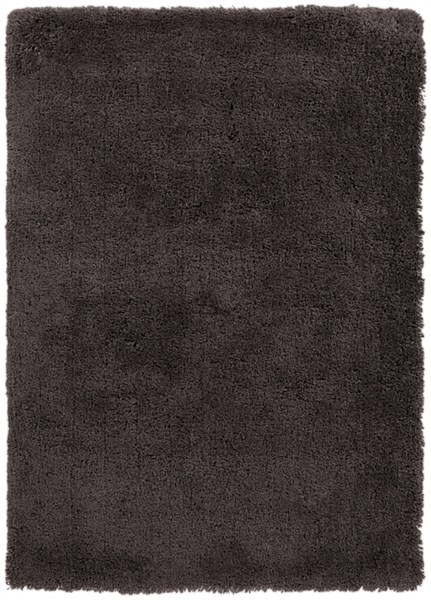 Mellow Contemporary Taupe Polyester Shag Area Rug MLW9002-57