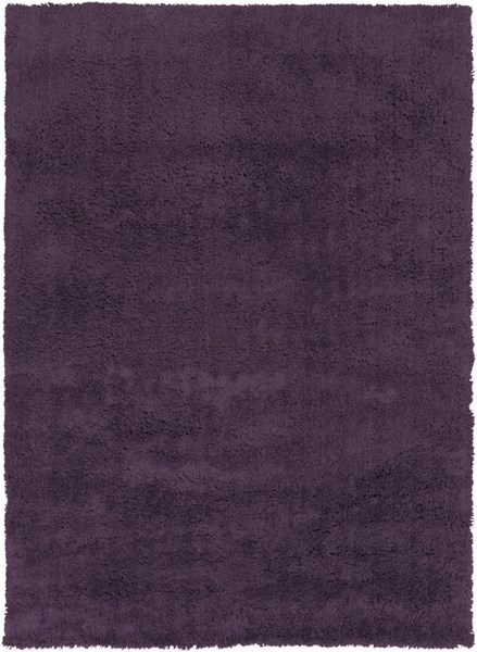 Mellow Contemporary Eggplant Polyester Area Rug (L 132 X W 96) MLW9009-811