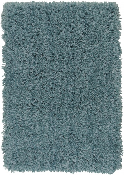 Mellow Contemporary Teal Polyester Shag Area Rug MLW9014-23