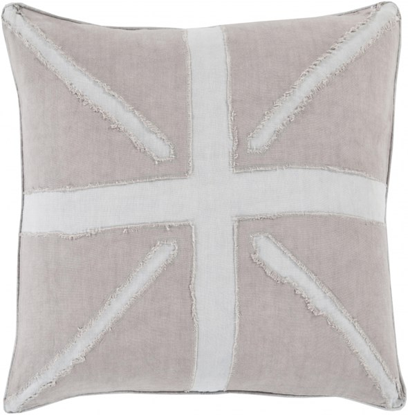 Manchester Light Gray Poly Linen Throw Pillow (L 20 X W 20 X H 5) MN001-2020P