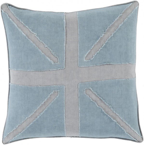 Manchester Slate Moss Poly Linen Throw Pillow (L 18 X W 18 X H 4) MN002-1818P