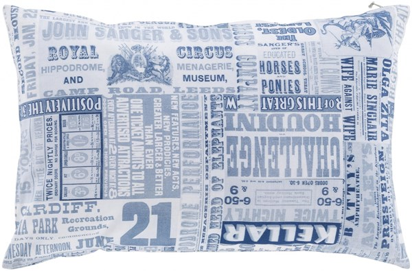Mind Games Cobalt Slate Blue Poly Cotton Throw Pillow (L 20 X W 20) MNG004-2020P