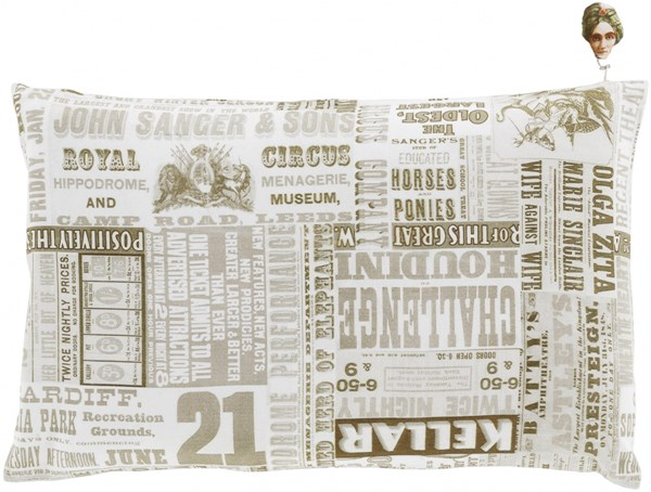 Mind Games Olive Moss Ivory Down Cotton Lumbar Pillow (L 20 X W 13) MNG006-1320D