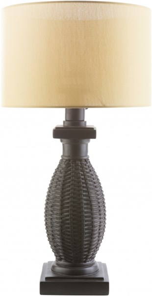 Amani Black Yellow Resin Polyester Table Lamp - 16x28 MNI882-TBL