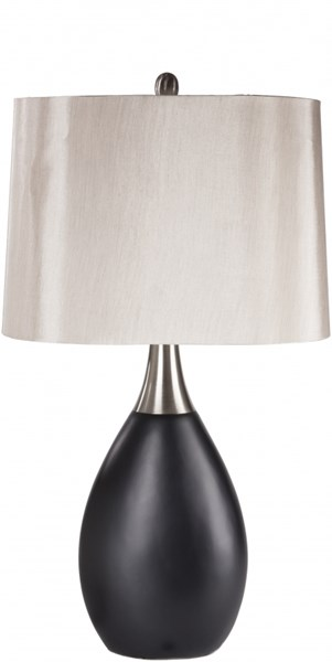 Minerva Black Resin Faux Silk Table Lamp - 10x16 MNLP-001