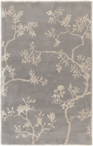Manor Ivory Light Gray Wool Viscose Area Rug (L 90 X W 60) MNR1008-58