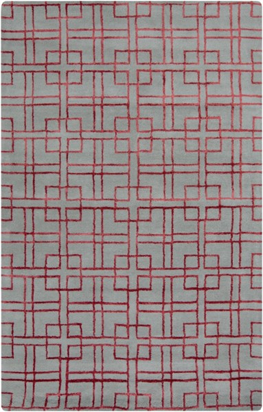 Manor Contemporary Moss Cherry Wool Viscose Area Rug (L 90 X W 60) MNR1015-58