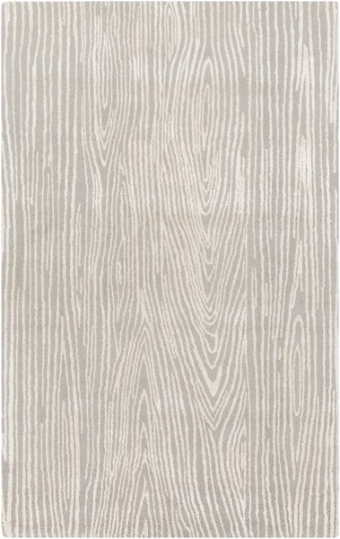 Manor Modern Gray Ivory Wool Viscose Area Rug (L 90 X W 60) MNR1016-58