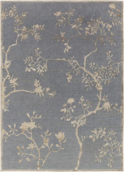 Manor Charcoal Olive Taupe Wool Viscose Area Rug (L 132 X W 96) MNR1019-811